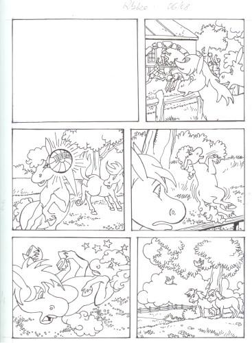 Originalzeichnung (0522) Rabauke und Rübe