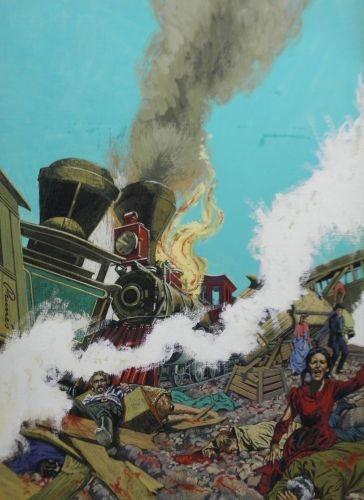 Originalzeichnung (0754) Western Inferno 9