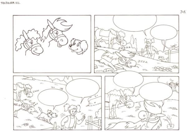 Originalzeichnung (0554) Rabauke und Rübe 2 Seiten zus.