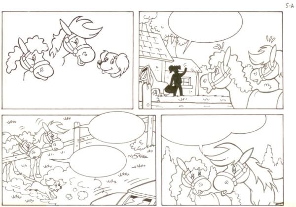 Originalzeichnung (0542) Rabauke und Rübe 2 Seiten zus.
