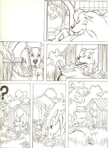 Originalzeichnung (0519) Rabauke und Rübe