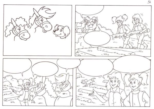 Originalzeichnung (0541) Rabauke und Rübe 2 Seiten zus.
