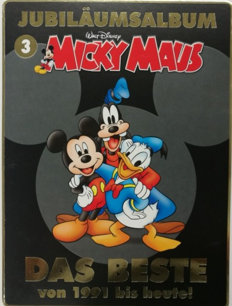 Micky Maus Jubiläumsalben (Ehapa, Br.) Nr. 1-3 kpl. ohne Box (Z0-2)
