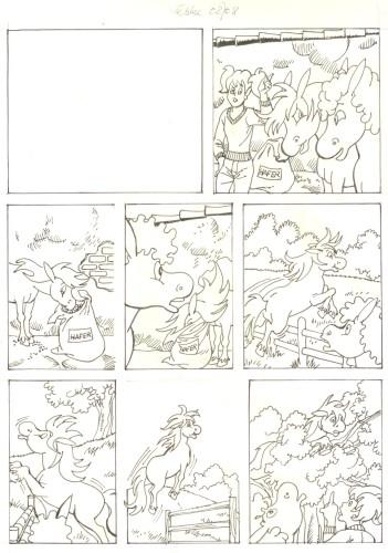 Originalzeichnung (0502) Rabauke und Rübe
