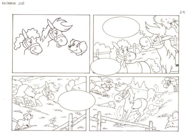 Originalzeichnung (0552) Rabauke und Rübe 2 Seiten zus.