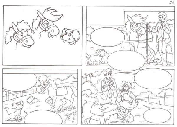 Originalzeichnung (0548) Rabauke und Rübe 2 Seiten zus.