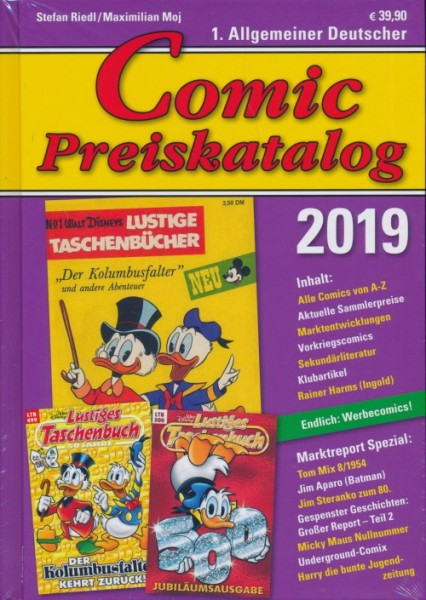 Comic-Preiskatalog 2019 HC