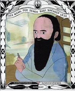 Mann der seinen Bart wachsen liess (Reprodukt, Br.)