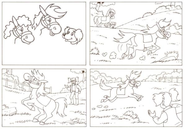 Originalzeichnung (0533) Rabauke und Rübe 2 Seiten zus.