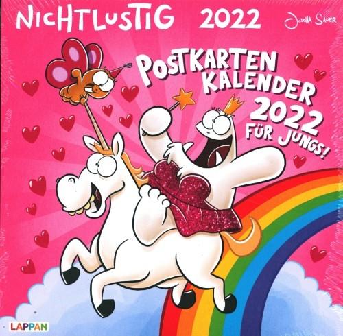 Nicht Lustig Postkartenkalender 2022