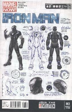US: Iron Man (2012) 03 1:25 Variant
