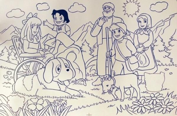 Originalzeichnung (0594) Heidi