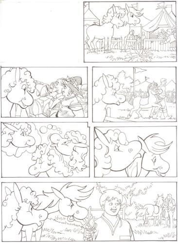Originalzeichnung (0518) Rabauke und Rübe