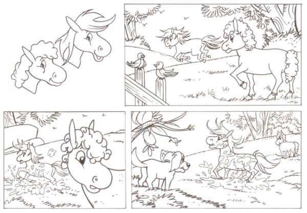 Originalzeichnung (0525) Rabauke und Rübe 2 Seiten zus.