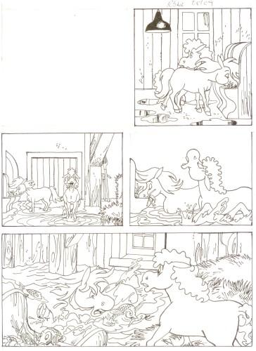 Originalzeichnung (0509) Rabauke und Rübe