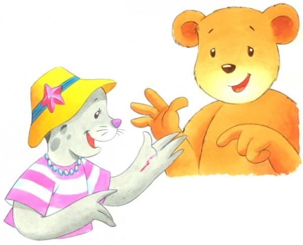 Originalzeichnung (0146) Zwei Bären