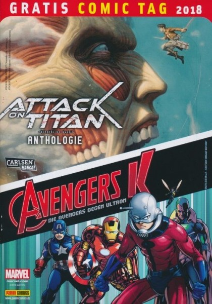Gratis Comic Tag 2018: Attack on Titans - Avengers K