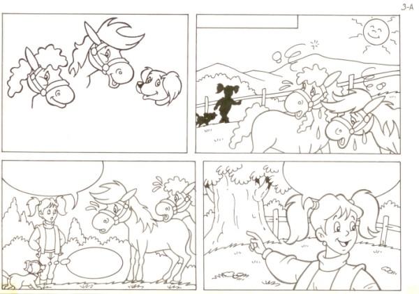 Originalzeichnung (0546) Rabauke und Rübe 2 Seiten zus.