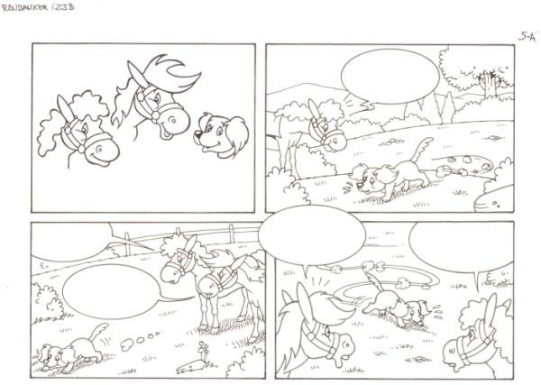 Originalzeichnung (0555) Rabauke und Rübe 2 Seiten zus.