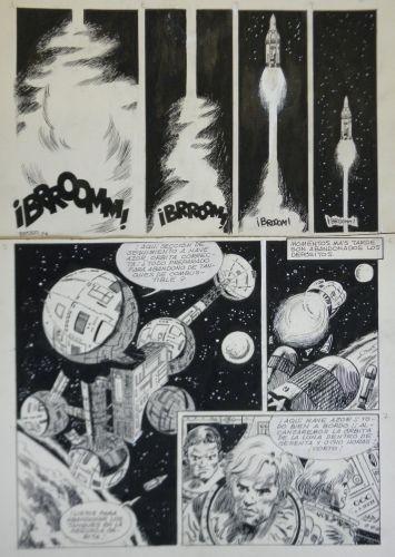 Originalzeichnung (0811) Ferrer 7 Seiten zus.