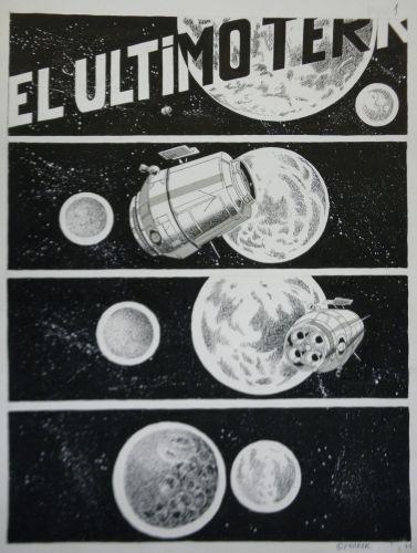 Originalzeichnung (0803) Ferrer 6 Seiten zus.