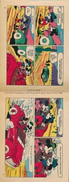 Micky Maus Beilagen gefaltete Doppelstreifen 1959 aus Heft Nr. 51-52